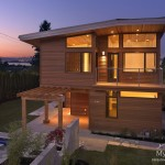 Exterior of our custom homes West Vancouver project: Modern Tranquility