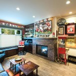 converting unused living rooms, deer lake home renovations, man cave renovations