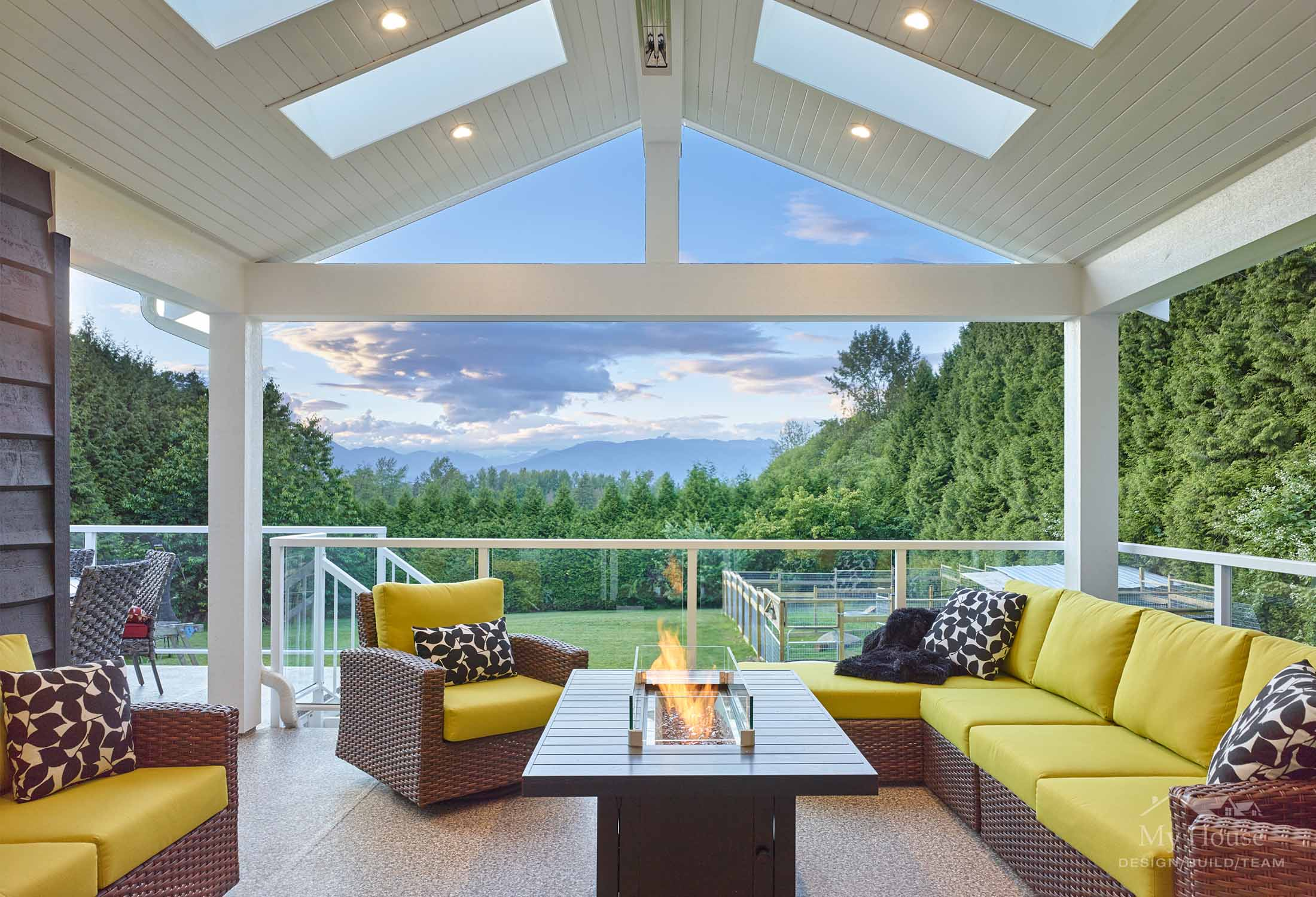Large Covered Deck from Surrey Renovation